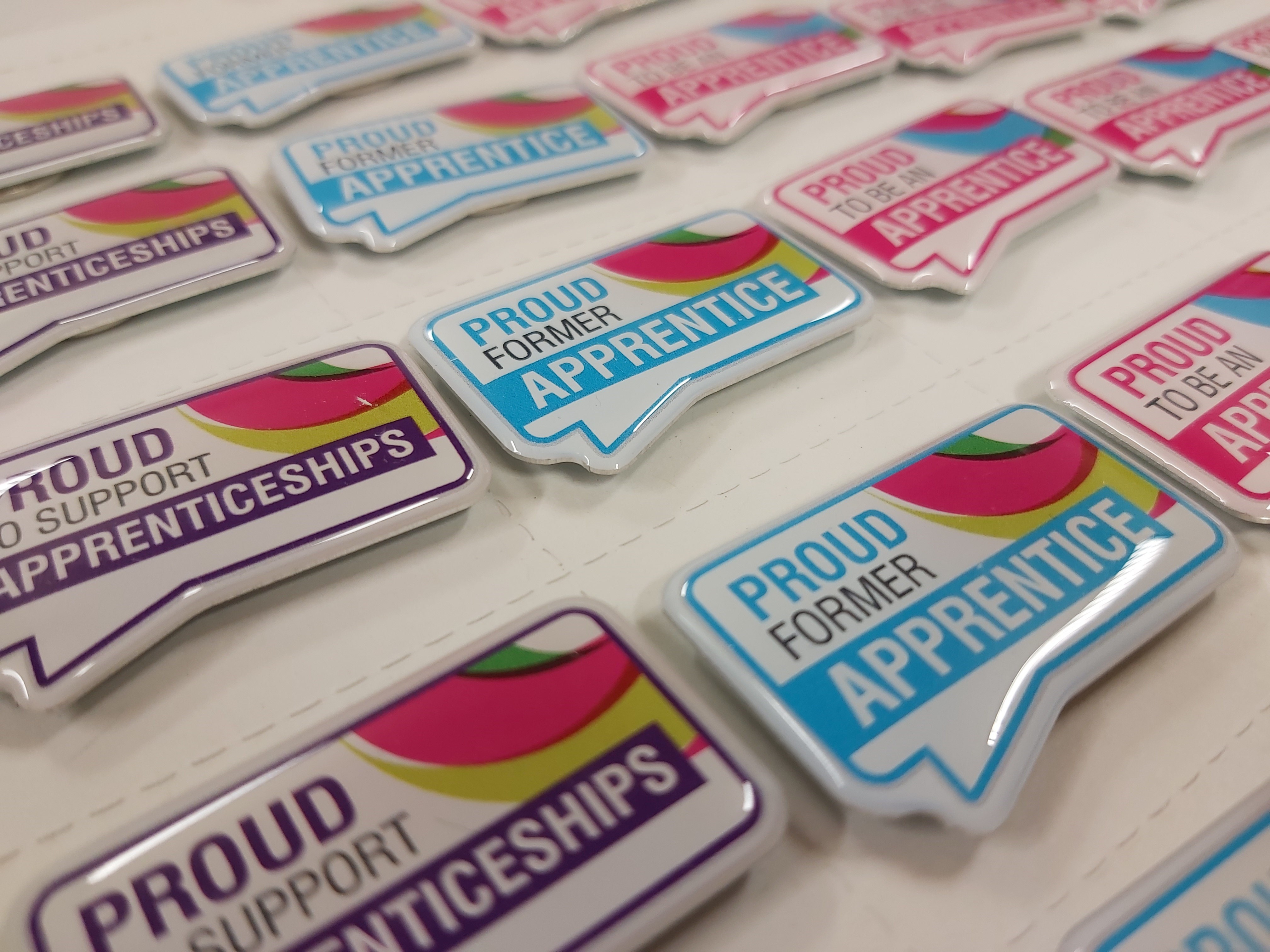 multiple worcestershire apprenticeships badges